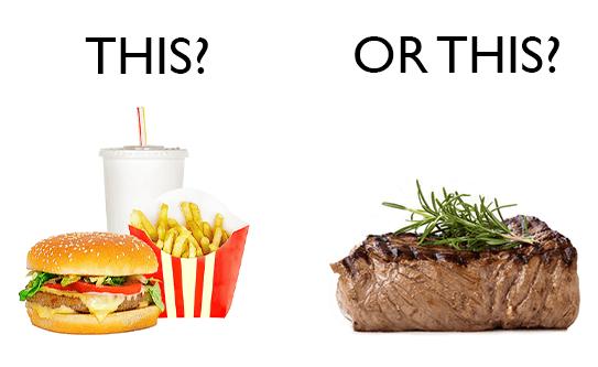 fast food steak